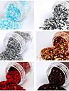 1PCS Nail Art Glitter Dust Powder Dekoration No.1 (blandade färger)