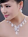 Aliaj cu Elegant bijuterii de cristal Seturi inclusiv cercei, colier