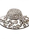 Moda argint placat cu aliaj cu stras Hat broșă în formă de