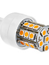 LED-majslampa med Varmt Vitt Ljus - G9 27x5050 SMD 3.5W 300LM 2800-3200K (230V)