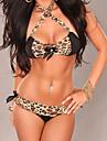 femei sexy leopard satin stras bikini