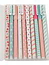 10 st / mycket ny gullig tecknad filmfärgad gel penna uppsättning Kawaii koreanska brevpapper kreativ gåva