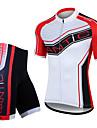 SANTIC Maillot et Cuissard de Cyclisme Homme Manches Courtes Velo Maillot Cuissard / Short Shorts Rembourres Ensemble de Vetements