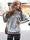 Femei Leopard maneca lunga T-Shirt
