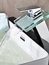 Robinet lavabo - Jet pluie Chrome Vasque 1 trou Mitigeur un trou