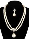 Pentru femei Perle Set bijuterii - Perle Include Pentru Nuntă / Petrecere / Aniversare / Logodnă / Cadou / Σκουλαρίκια / Coliere