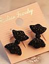Cercei Stud Sexy Cute Stil Personalizat imitație de diamant Aliaj Bowknot Shape Negru Bijuterii Pentru Petrecere Zilnic
