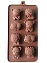 coacere Mold Animal Plăcintă Biscuiți Tort Silicon Reparații Calitate superioară #D