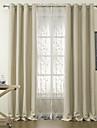 Canal pentru tijă Margine cu inele de trecere Margine găici Pliuri Triple Două Panouri Tratamentul fereastră Modern Poliester Material