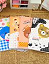 tecknad björn serien liten anteckningsbok (slumpmässig färg)