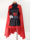 Inspirat de RWBY Ruby Rose Anime Costume Cosplay Costume Cosplay Peteci Manșon Lung Rochie Corset Centură Sac Manta Pentru Feminin