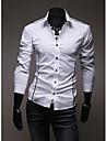 KALO cu maneci lungi linii Decor Slim Shirt (alb)