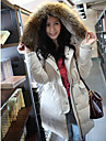 Femei frumos haina de iarna jos hanorac Big guler Coat