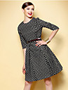 TS Vintage Polka Dot Swing Dress