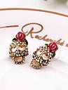 Cercei Stud bijuterii de lux European imitație de diamant Aliaj Flower Shape Skull shape Rose Bijuterii Pentru Zilnic