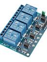 4 kanals 12v låg nivå utlösa relämodul för (för Arduino) (fungerar med den officiella (för Arduino) skivor)