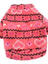 Chien Sweatshirt Vetements pour Chien Coeur Rouge Rose Polaire Costume Pour les animaux domestiques Homme Femme Decontracte / Quotidien