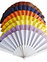 """Ventilatoare și umbrele de soare-# Piece / Set Ventilatoare de Mână Temă Clasică Alb Liliac Albastru Galben16 1/2""""x9""""x"""