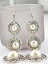 Cercei Picătură Stilul Folk Perle Imitație de Perle Aliaj Alb Roz auriu Bijuterii Pentru 2pcs