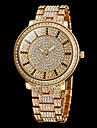 Pentru femei Ceas Elegant Ceasuri Pave Quartz imitație de diamant Oțel inoxidabil Bandă Sclipici Argint Auriu