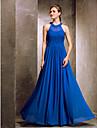 A-Şekilli Taşlı Yaka Yere Kadar Krepe Drape / Haç ile Nedime Elbisesi tarafından TS Couture®