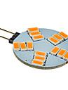 G4 LED-spotlights 15 lysdioder SMD 5630 Varmvit 180-320lm 2500-3500K DC 12V