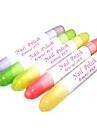 1PCS Nail Art Polish Corrector Pen Ta bort misstag med 3 tips (slumpvis färg)