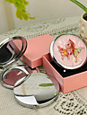 Personalizat cadou Butterfly Style Pink Chrome Compact Mirror