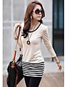 Femei cauzale Stripes Soft Bluza