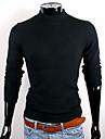 CUBFACE bărbați Negru gât Fit tricotat Pulover