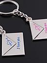 Personalizate gravate cadou o pereche plic în formă Lover keychain