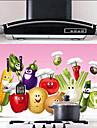 Vegetabiliska Pattern Laser Vattentät Oilproof Kitchen väggdekaler
