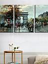 Stretchad Kanvastryck Kanvas set Landskap Resor Tre paneler Vertikal Tryck väggdekor Hem-dekoration