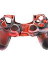 Silikonhölje fall för PS4 Controller (Svart + Vit + Röd)