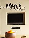 Löstagbara Väggdekal Svart fåglar förgrena Wall Stickers
