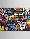 Stretchad Kanvastryck Tecknat Popkonst En panel Horisontell Tryck väggdekor Hem-dekoration