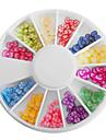 Mixte couleur d'argile de polymère bowknot roue Nail Art Décorations