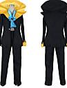 Inspirerad av One Piece Brook Animé Cosplay-kostymer cosplay Suits Färgblock Kappa Byxor Knyta Till Herr