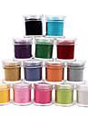 1st Velvet nagel konst Decorative Powder (blandade färger)