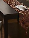 europeisk stil gyllene poly-siden röda Jacquard bordslöpare