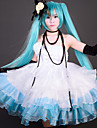 Esinlenen Vocaloid Hatsune Miku Video oyun Cosplay Kostümleri Cosplay Takımları / Elbiseler Kırk Yama Elbise / Eldiven / Eldivenler Cadılar Bayramı Kostümleri