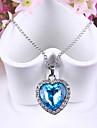 Pentru femei Coliere cu Pandativ Sapphire sintetic Heart Shape Cristal Austriac Aliaj Iubire La modă Bijuterii Pentru Nuntă Petrecere