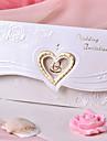 Design invitatie de nunta inima cu flori (set de 50)