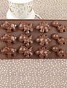 Silicone Color Box Dinosaur Cake Choklad Mould, 21.5x10.8x1.4cm (Random färg)