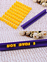 plast brev&nummer kaka stämpel, slumpmässig färg