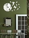 """19.75 """"H stil modern unghi Butterfly Mirror Ceas de perete"""