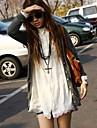 femei guler bandă dantelă tiv lung de bumbac bluză