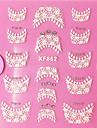 3D Rhinestone French Lace nagel konst Stickers XF-seriens NO.862