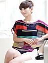 Saiwei Primavara Vara Stripe șifon T-shirt femei