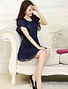 Pentru femei de vara rotund Plus Size Broderie Lace Dress